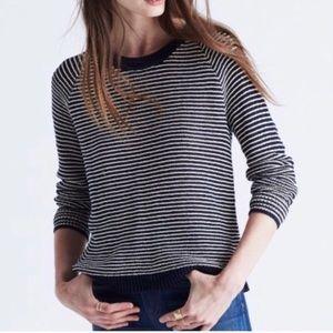 madewell dockline blue & white striped sweater XXS